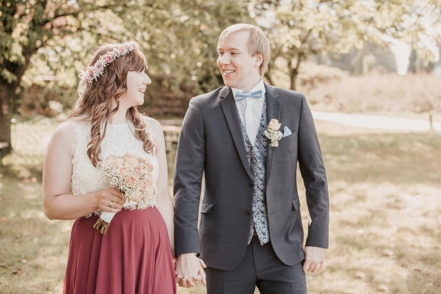 romantische Hochzeitsfotos