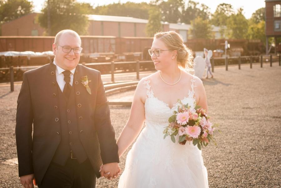 Goldene Stunde Hochzeitsfotos